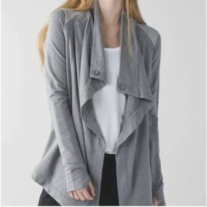 Lululemon Coast Wrap Cardigan Gray 6 As Is